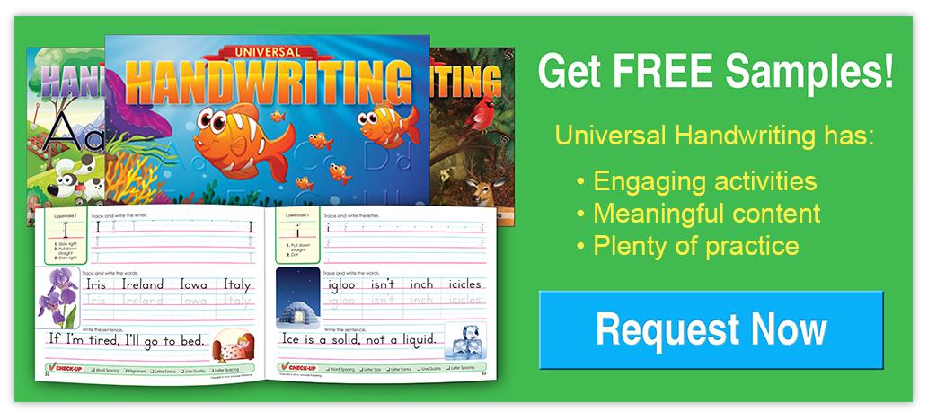 Universal Handwriting Samples