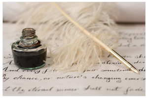 National Handwriting Day Quill and Inkwell