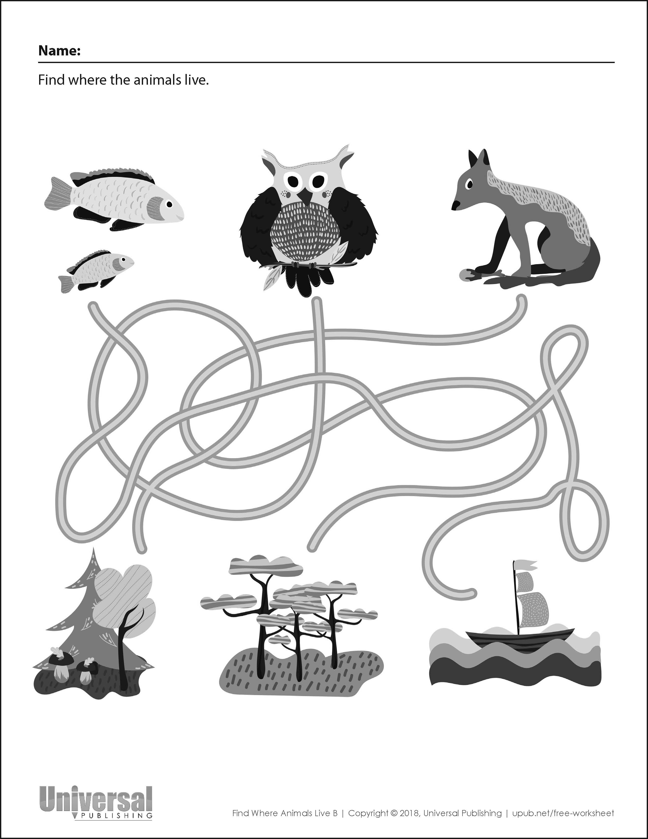 Free Printable For Kids Find Where Animals Live B Universal Publishing Blog Well you're in luck, because here they come. universal publishing blog