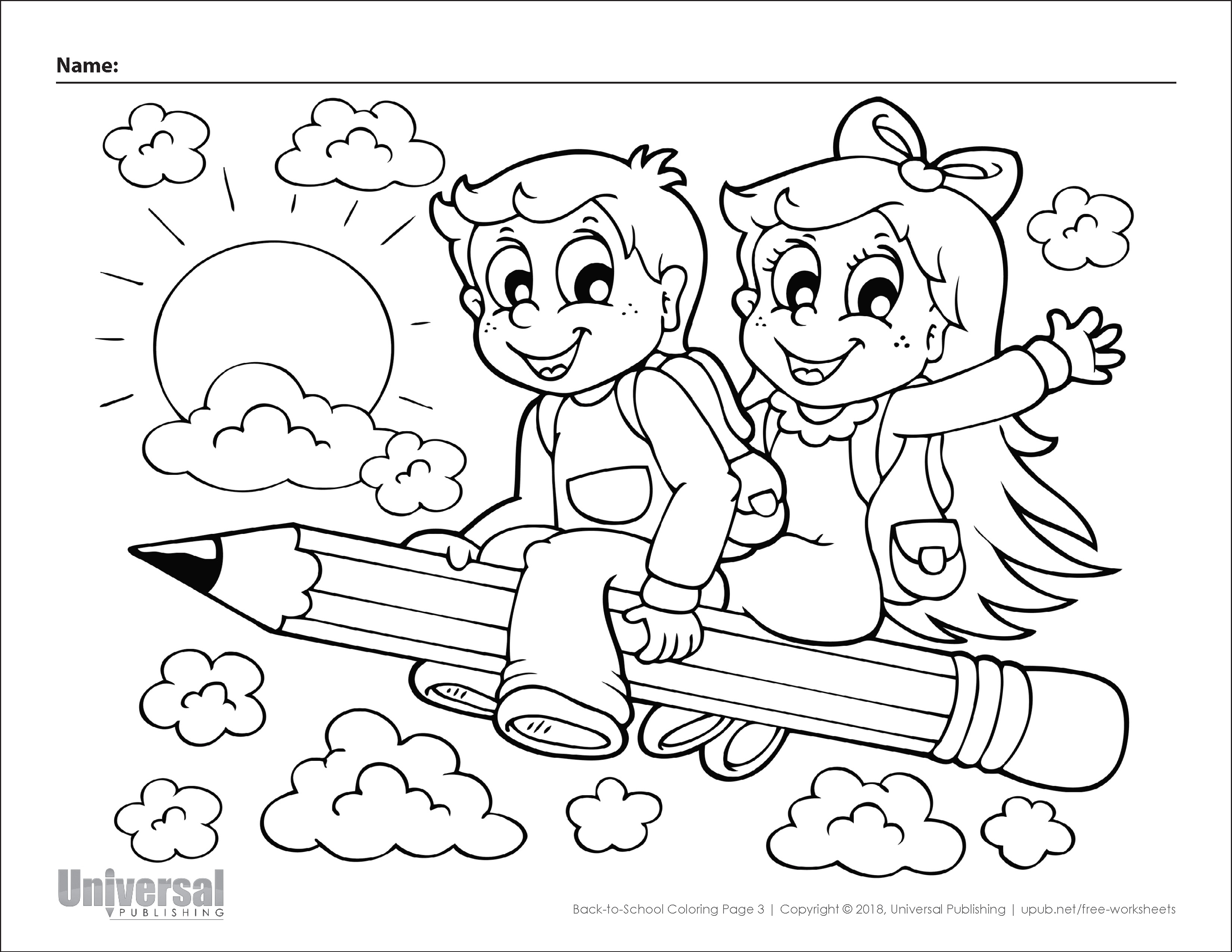 Back To School Coloring Pages Free Printables Universal Publishing