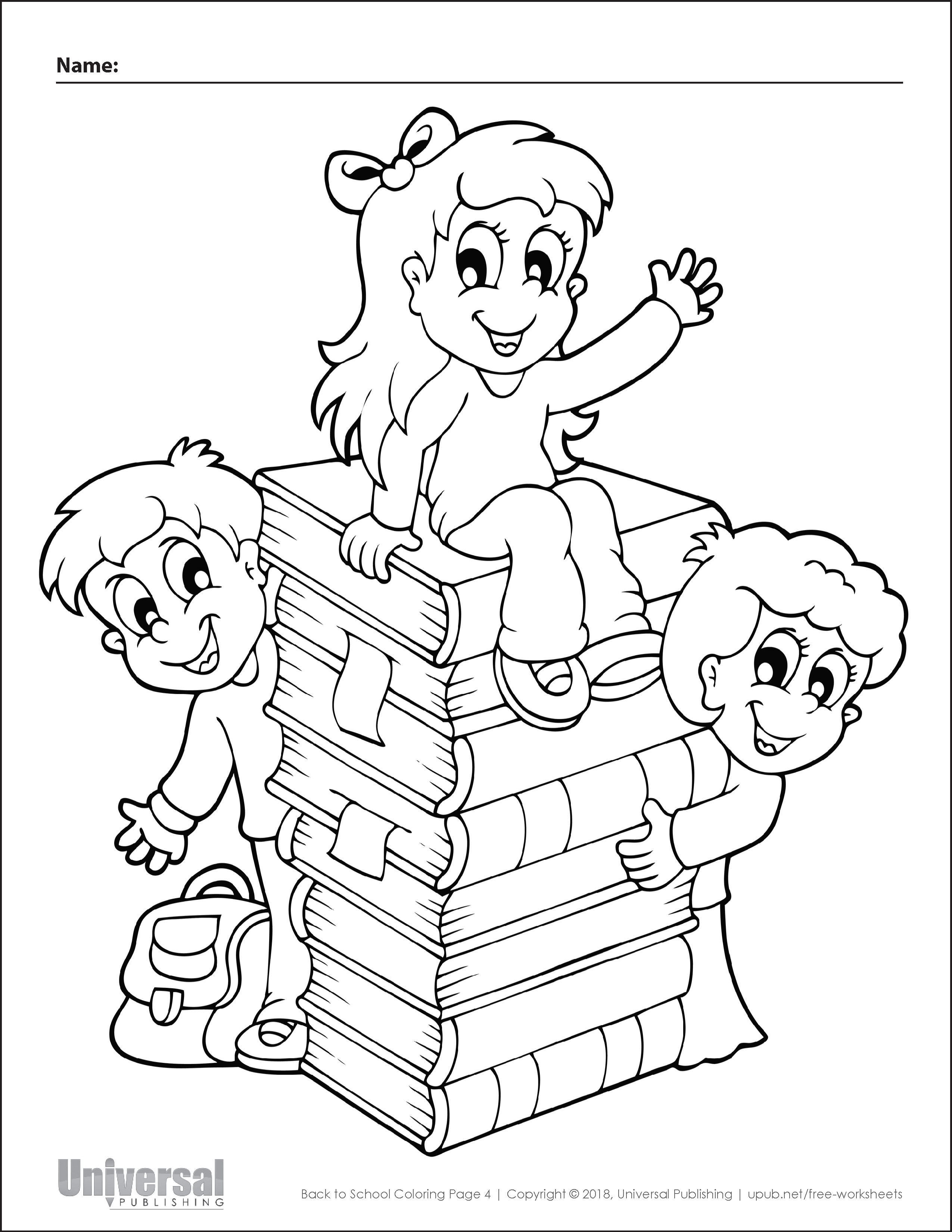 Back to School Coloring Page 4