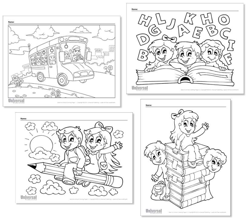 Back to School Coloring Pages | Free Printables - Universal ...