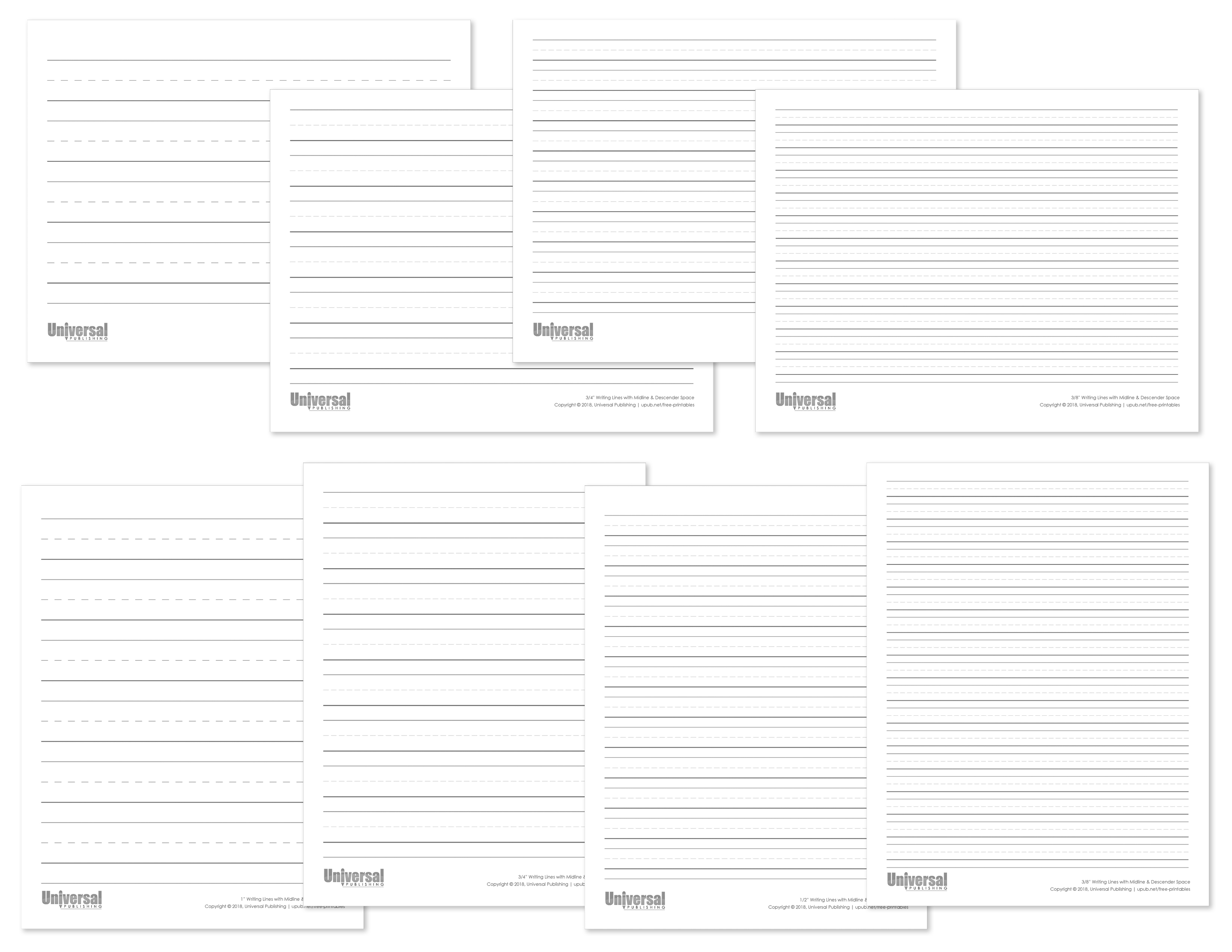 Black Writing Lines Pack