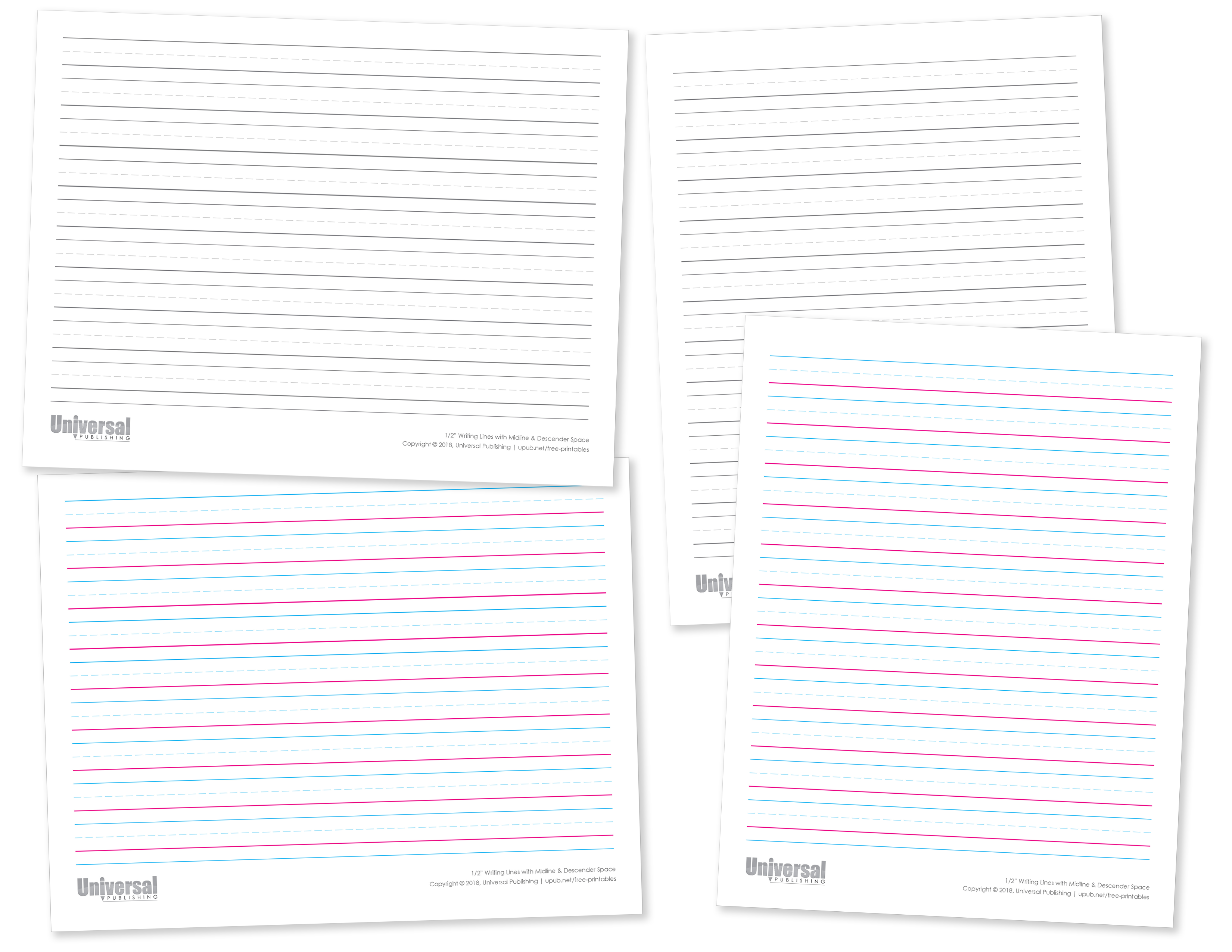 Half Inch Writing Lines