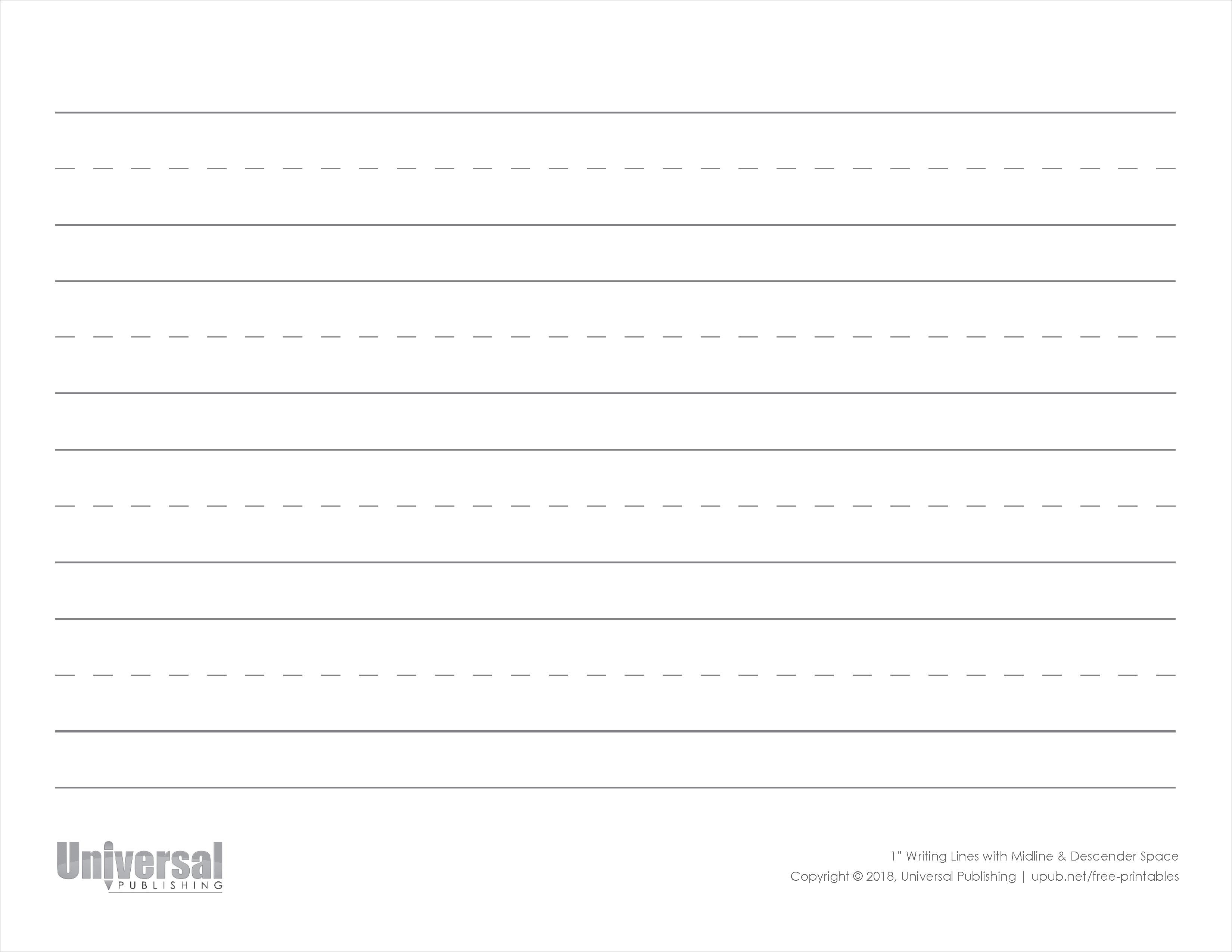 Writing Lines | Free Printables - Universal Publishing