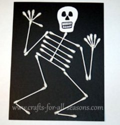 Halloween Activities Crafts for All Seasons Q Tip Skeleton