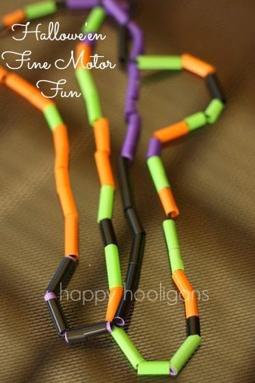Halloween Activities Happy Hooligans Threading Necklaces