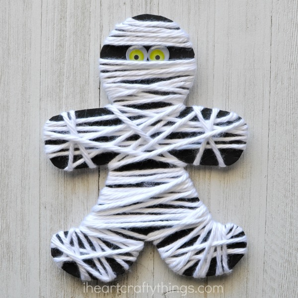 Halloween Activities I Heart Crafty Things Yarn Wrapped Mummy