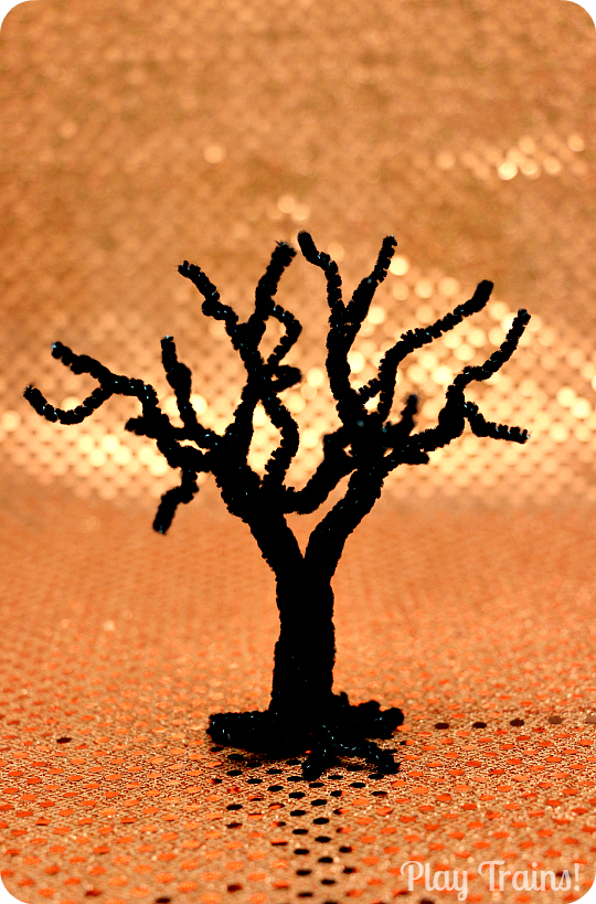 Halloween Activities Play Trains Pipe Cleaner Tree