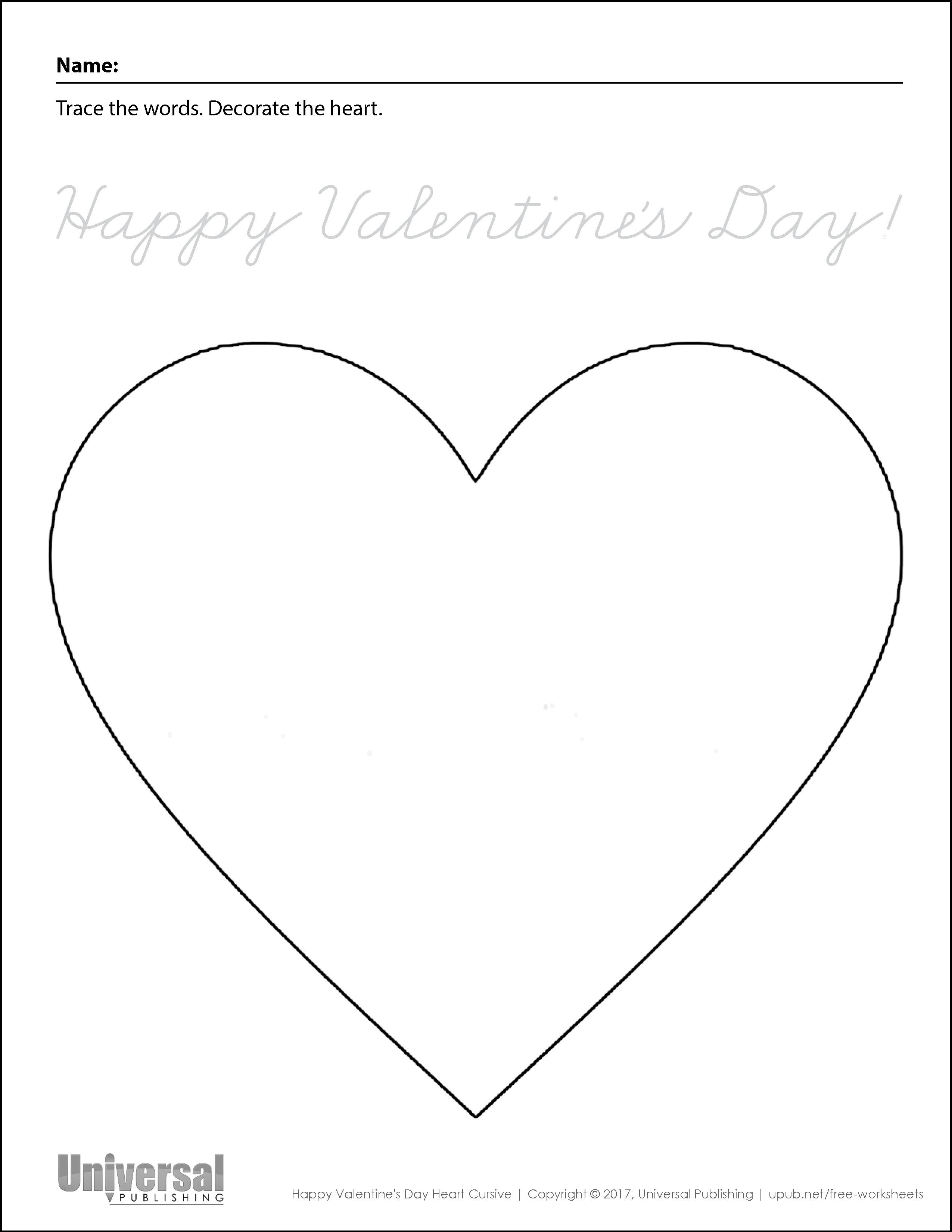 Happy Valentine's Day Heart Cursive