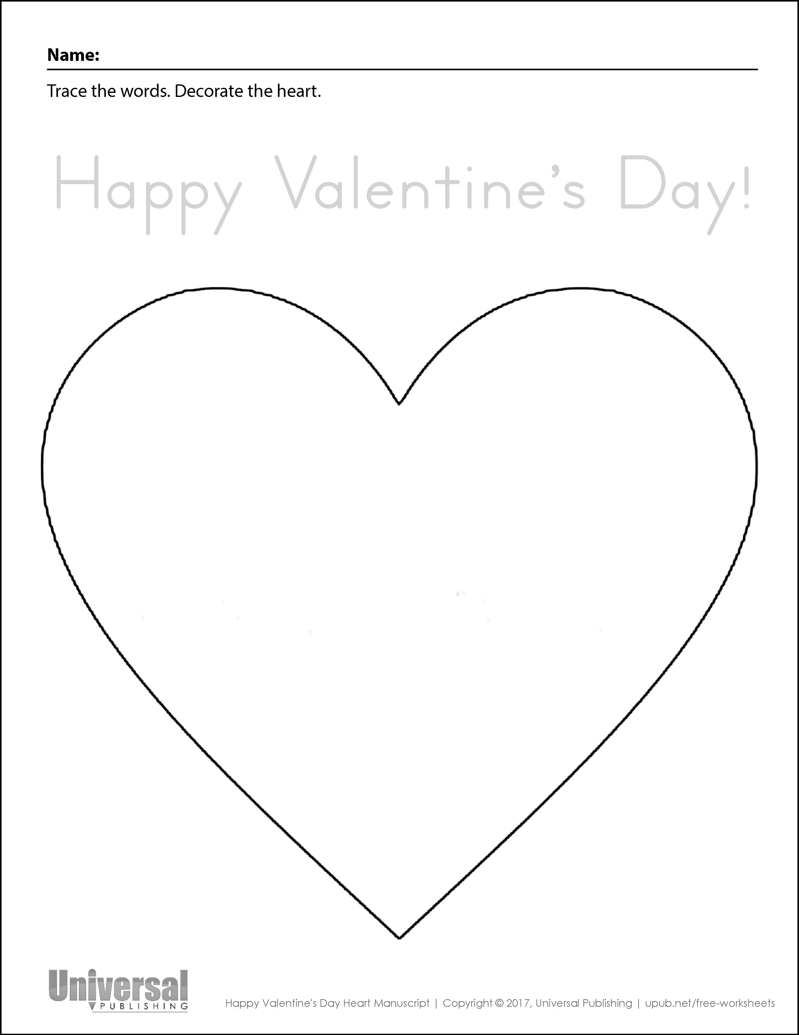 Happy Valentine's Day Heart Manuscript