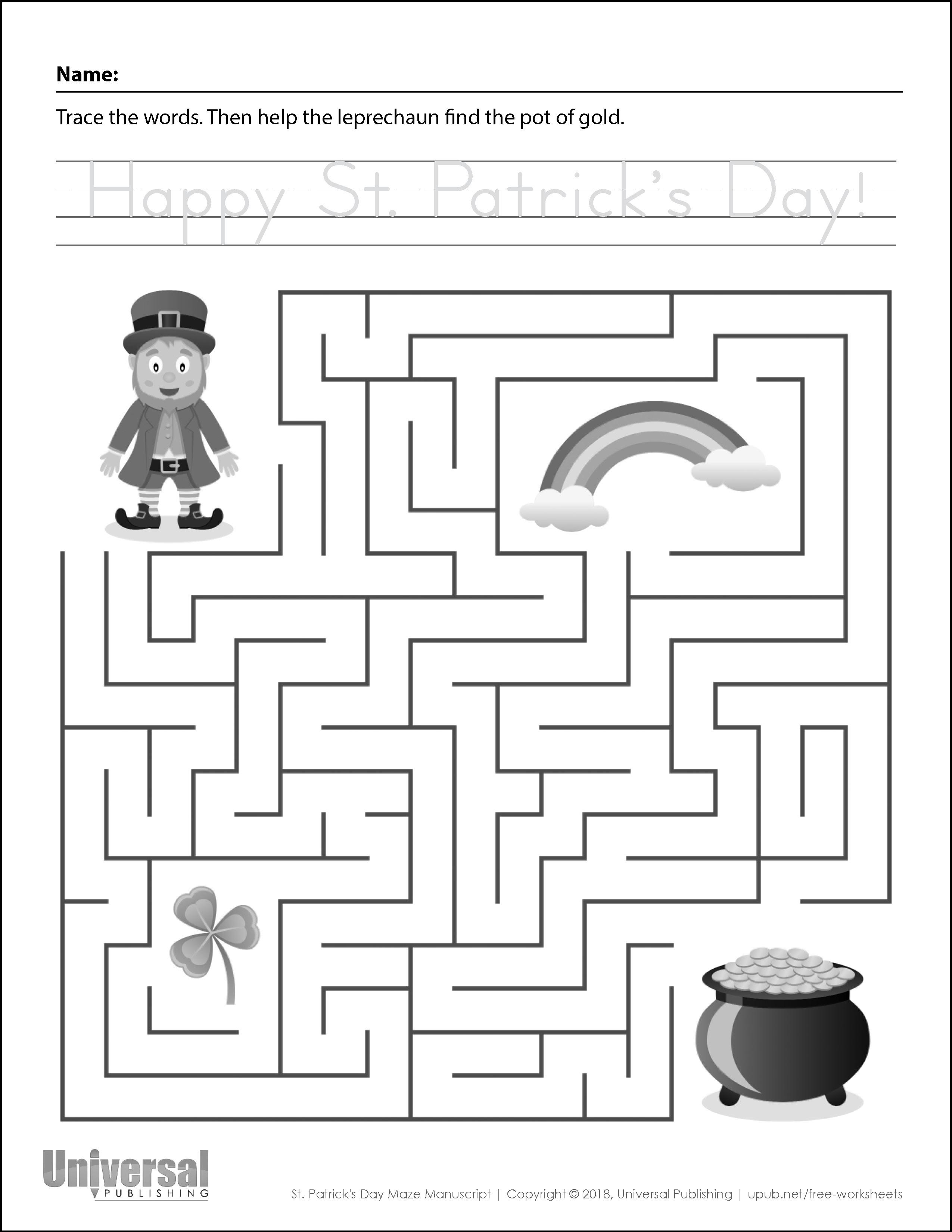 St Patricks Day Maze Manuscript