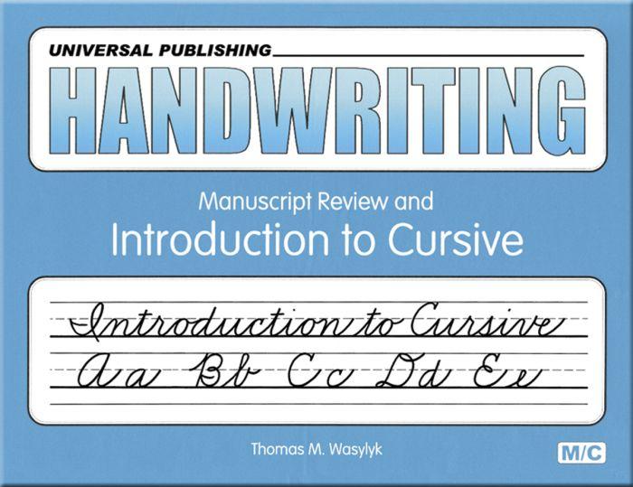Manuscript Review & Intro To Cursive - Handwriting Books Universal  Publishing