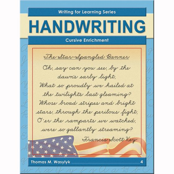 Grade 4 Cursive Enrichment - Buy Cursive Writing Books Writing For  Learning