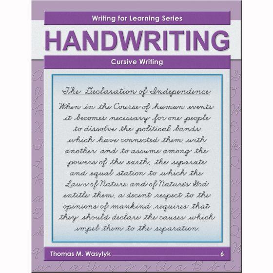Grade 6 Cursive Writing - Buy Cursive Writing Books Writing For Learning