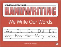 Original Handwriting: We Write Our Words