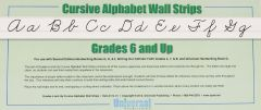 Cursive Wall Strips Grade 6