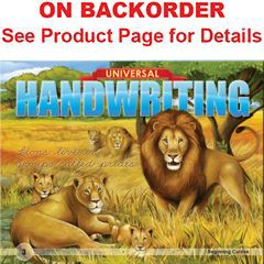Universal Handwriting: Beginning Cursive