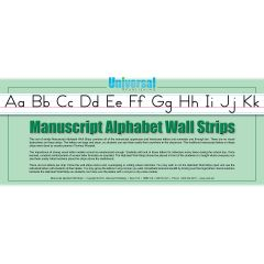 Universal Handwriting - Manuscript Wall Strips