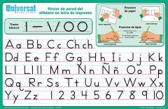 Manuscript Spanish Alphabet Poster