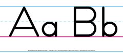 Manuscript Spanish Alphabet Wall Strips