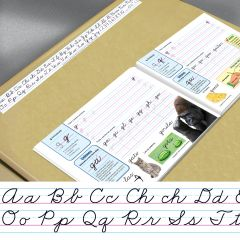 Cursive Spanish Alphabet Desk Strips