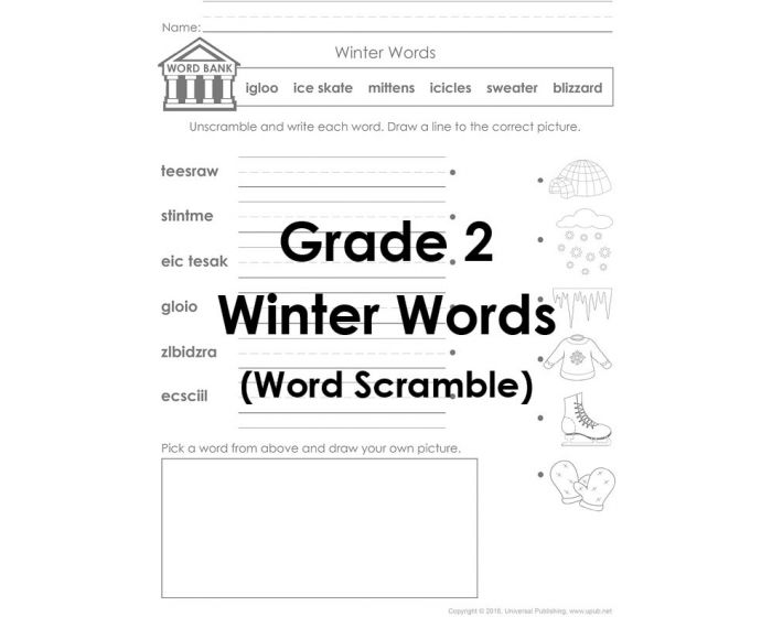 Winter Words for Web 2