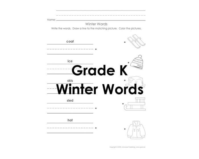 Winter Word Scramble