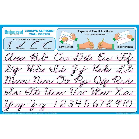 Cursive Wall Poster - Buy Alphabet Chart | Universal Handwriting
