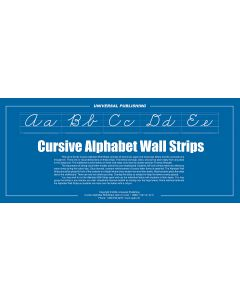 Cursive Alphabet Wall Strips