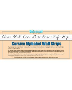 Universal Handwriting - Cursive Wall Strips 34-6 (34-2)