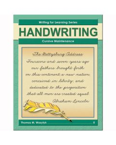 Writing for Learning: Cursive Maintenance