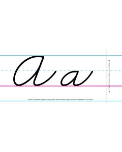 Cursive Spanish Alphabet Wall Strips