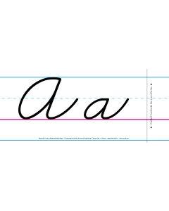 Cursive Spanish Alphabet Wall Strips