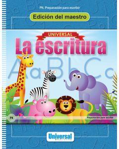Universal La escritura: Edición del maestro (Preparación para la escritura)