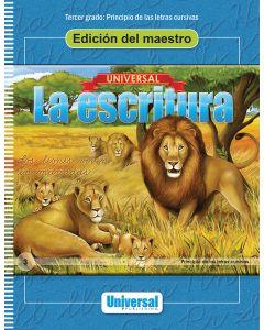 Universal La escritura: Edición del maestro (Principio de las letras cursivas)
