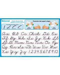 Cursive Spanish Alphabet Chart